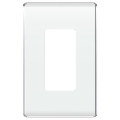 Studio 1 Gang Socket Plate Finish: White