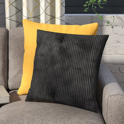 Luciana Throw Pillow Size: 18 H x 18 W x 5 D, Color: Black