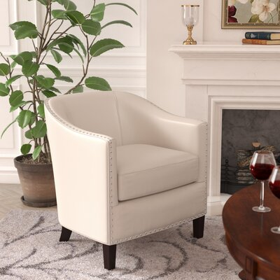 Borquez Barrel Chair Upholstery: Ivory