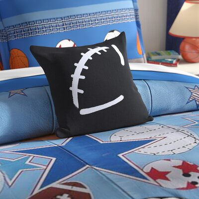 Bauer Football Throw Pillow Size: 16 H x 16 W, Color: Black