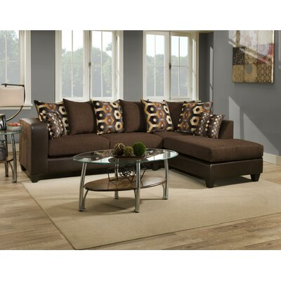 Whitlatch Sectional Upholstery: Brown/Black