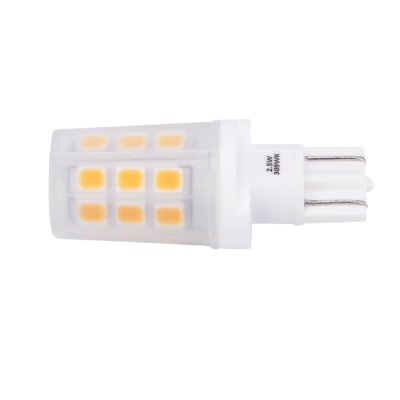 2.5W Frosted Wedge Base LED Light Bulb Bulb Temperature: 2700K