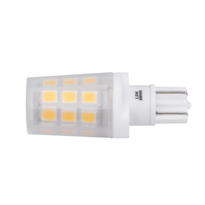 1.5W Frosted Wedge Base LED Light Bulb Bulb Temperature: 3000K