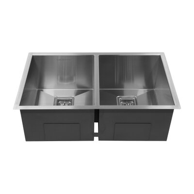 30 x 10 Double Basin Undermount Kitchen Sink
