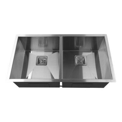33 x 10 Double Basin Undermount Kitchen Sink