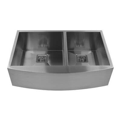 33 x 10 Double Basin Farmhouse Kitchen Sink