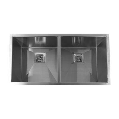 36 x 18 Double Basin Undermount Kitchen Sink
