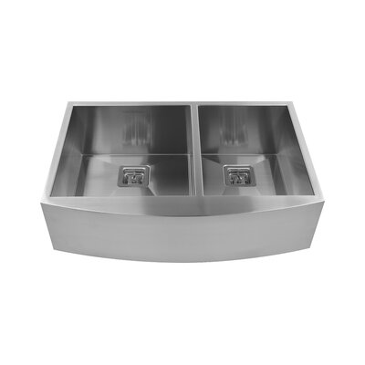 36 x 10 Double Basin Farmhouse Kitchen Sink