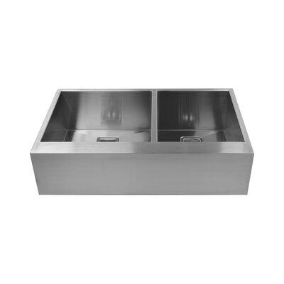 36 x 10 Double Basin Farmhouse Kitchen Sink