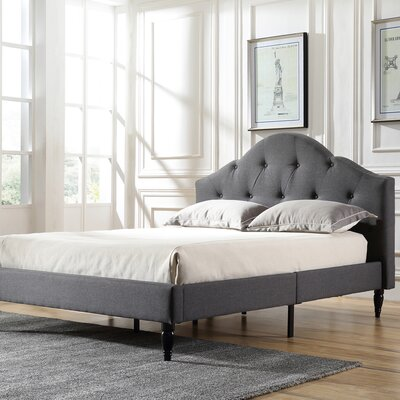 Etelvina Upholstered Platform Bed Color: Gray, Size: Queen