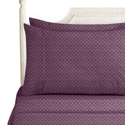 Sterrett Elegant Embossed Design Sheet Set Size: Twin, Color: Purple