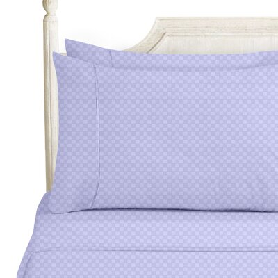 Sterrett Elegant Embossed Design Sheet Set Size: King, Color: Lavender