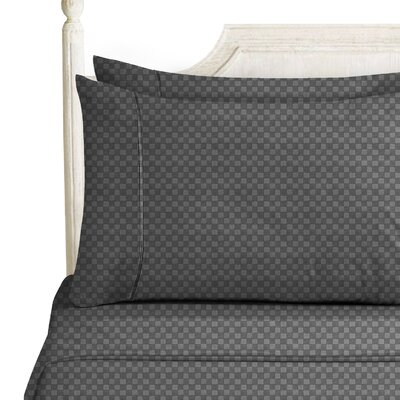 Sterrett Elegant Embossed Design Sheet Set Size: Full, Color: Gray