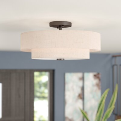 Dundee Semi Flush Mount Size: 8.5 H x 18 W