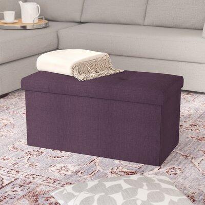 Tindall Storage Ottoman Upholstery: Burgundy