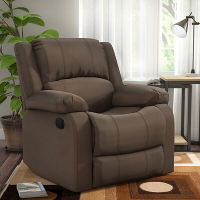 Meade Manual Recliner Upholstery: Chocolate