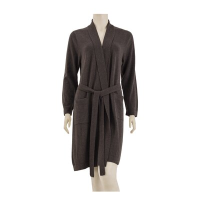 100% Cashmere Bathrobe Size: Small, Color: Brown