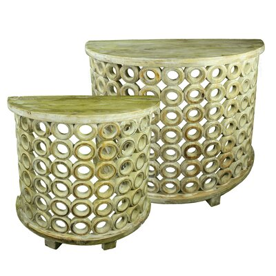 McBain Metal 2 Piece Nesting Tables