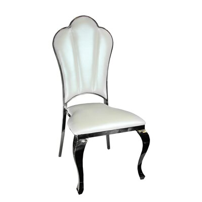 Kutcher Upholstered Dining Chair Frame Color: Silver