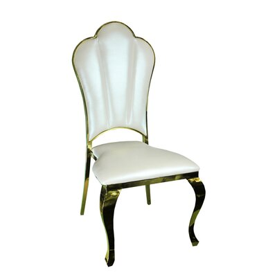 Kutcher Upholstered Dining Chair Frame Color: Gold