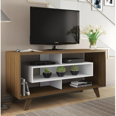 Demaio 54 TV Stand Color: Rustic/White