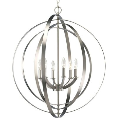 Lanza 6-Light Globe Pendant Finish: Burnished Silver
