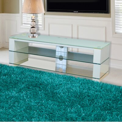Demko 47 TV Stand with Open Glass Shelve