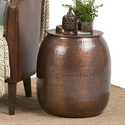 Griffen Metal Storage End Table