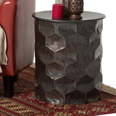 Whitney Metal Storage End Table