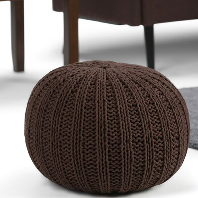 Shelby Pouf Upholstery: Chocolate Brown