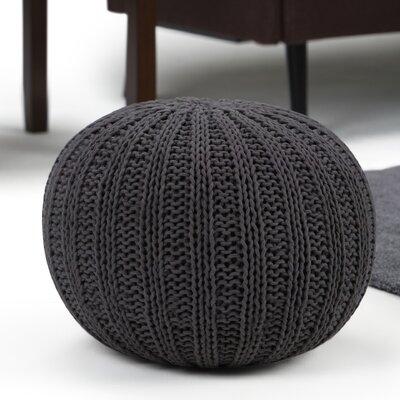 Shelby Round Pouf Ottoman Upholstery: Slate Gray