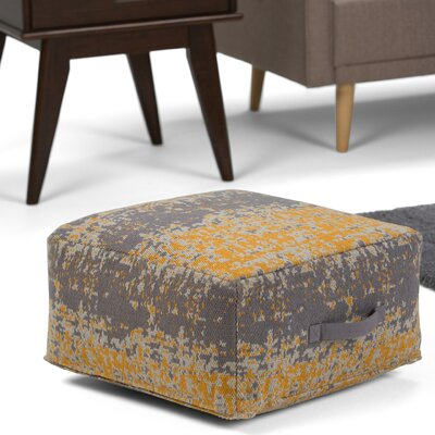 Tilley Pouf Upholstery: Yellow/Gray