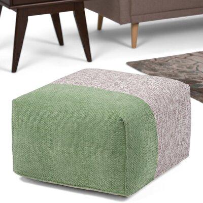 Emmett Square Pouf Ottoman Upholstery: Green/Gray