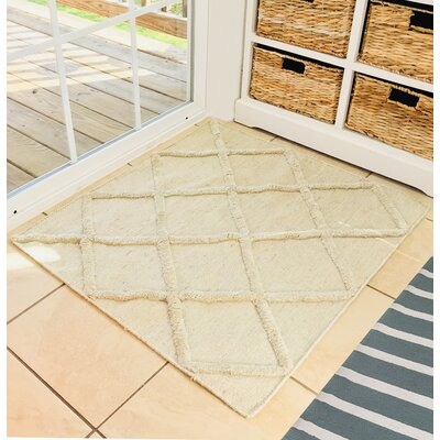Lambdin Hand Woven Cotton Cream Area Rug