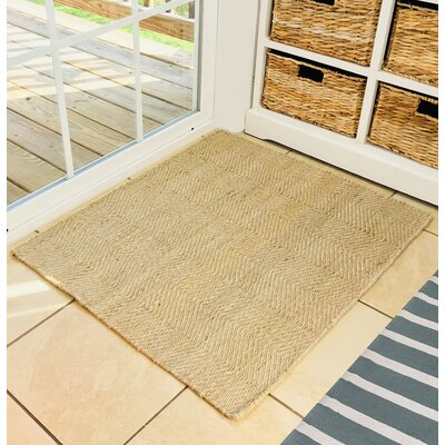 Labarbera Hand Woven Natural Area Rug�with Pad