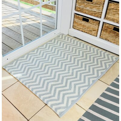 Almendarez Gray/White Area Rug with Pad