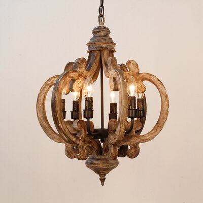 Amia 6-Light Foyer Pendant Finish: Brown, Size: 25.5 H x 19.5 W x 19.5 D