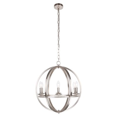 Lanz 5-Light Globe Pendant Finish: Stain Nickel