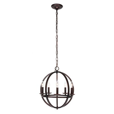 Lanz 5-Light Globe Pendant Finish: Antique Bronze