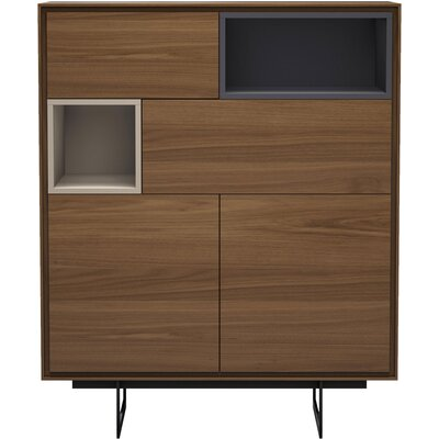 Baxter Highboard China Cabinet Color: Walnut