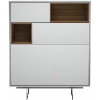 Baxter Highboard China Cabinet Color: White Matte
