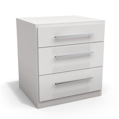 Haskett 3 Drawer Nightstand
