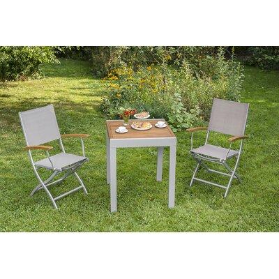2-Sitzer Balkonset Blondell | Garten > Balkon > Balkon-Sets | Naturalbrowngraysilver | Metall - Rattan - Textil - Massivholz | Lynton Garden
