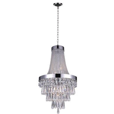 Vast 7-Light Crystal Chandelier
