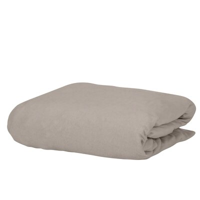 Georgia Microfiber Fitted Sheet Color: Beige, Size: Queen