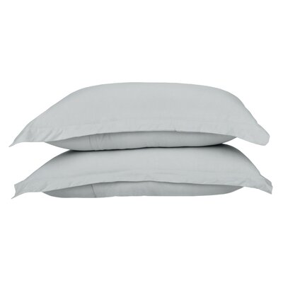 Garrison 100% Combed Cotton Pillow Case Color: Silver