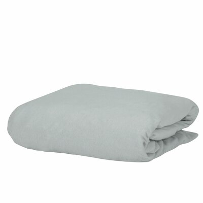 Georgia Microfiber 100% Cotton Fitted Sheet Color: Silver, Size: Full