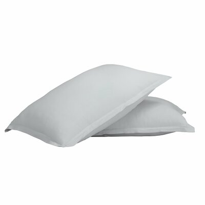 Gaston 100% Cotton Jersey Pillow Case Color: Silver