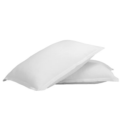 Gaston 100% Cotton Jersey Pillow Case Color: White
