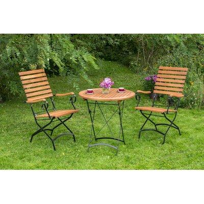 2-Sitzer Balkonset Notker | Garten > Balkon > Balkon-Sets | Naturalblackbrown | Metall - Rattan - Massivholz | Kampen Living